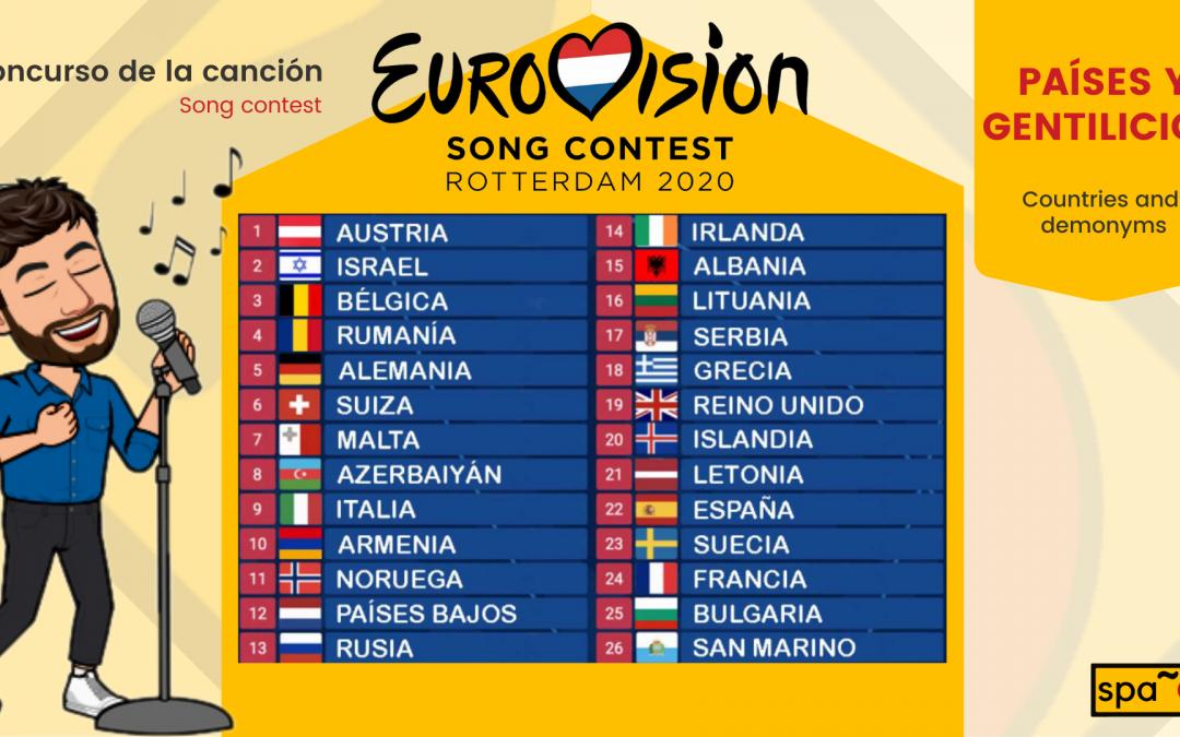 ¡Aprendamos los países y gentilicios con Eurovisión!